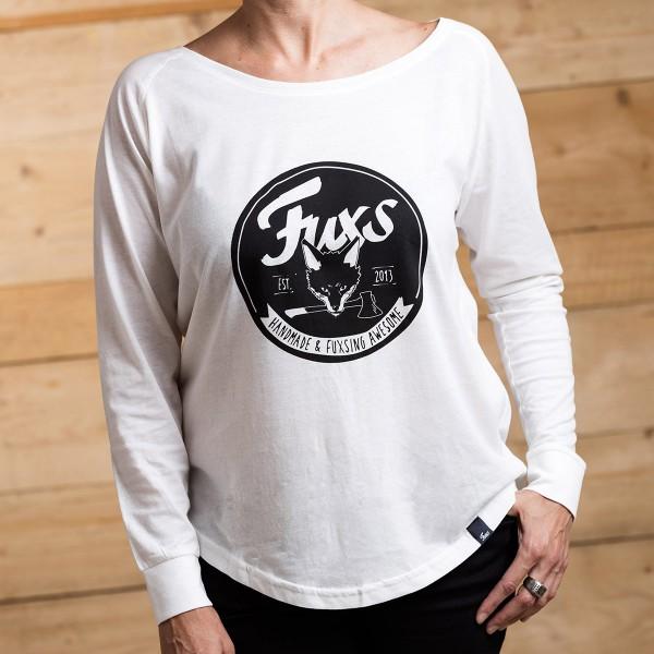 FUXS - LONGSLEEVE - Logo weiß